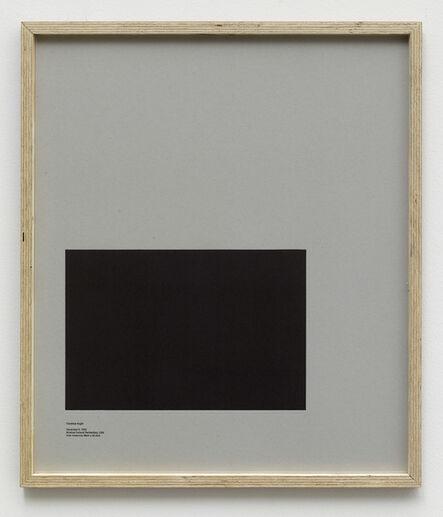 E.B. Itso, 'Loop Holes (Clarence Anglin, December 6. 1962, Alcatraz Federal Penitentiary, USA, hole measures 38 x 25.4 cm) ', 2014