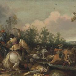 Jan Asselijn, 'A cavalry skirmish'