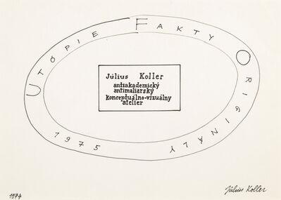 Július Koller, 'Untitled (Utopie)', 1975