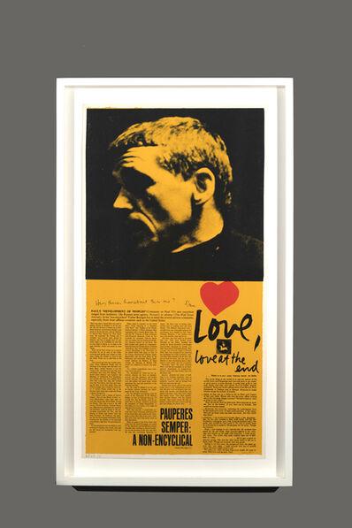 Corita Kent, 'love at the end', 1968/69/73