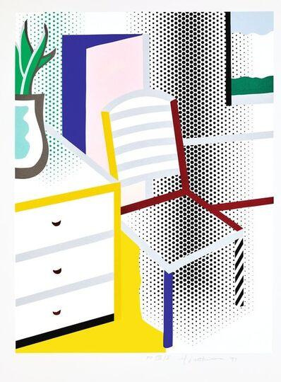 Roy Lichtenstein, 'Interior with Chair (C. 309)', 1997