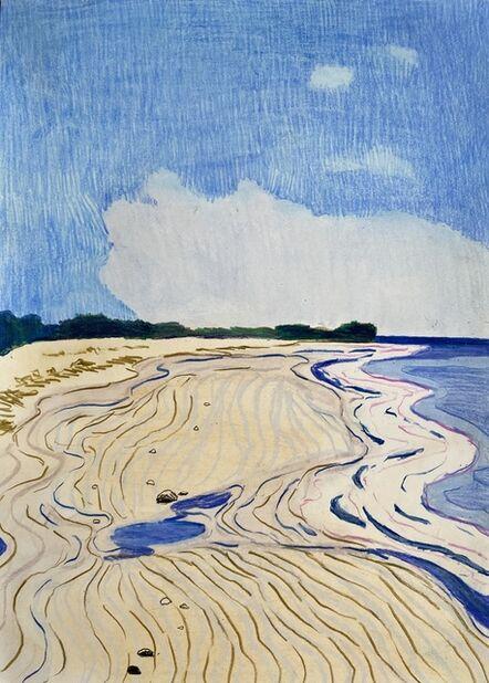 Per Adolfsen, 'Empty Beach July', 2020