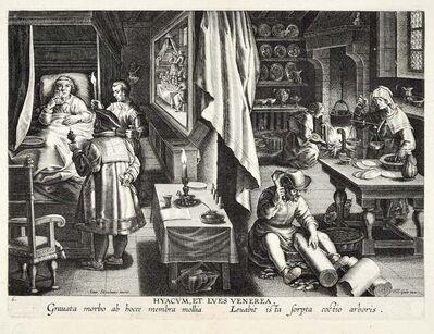 Jan van der Straet, 'Hyacum, Et Lues Venerea ', End of 1500