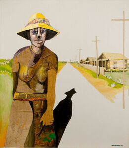 Benny Andrews, 'Down the Road', 1971
