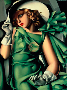 Tamara de Lempicka, 'Young Lady with Gloves', 21st Century