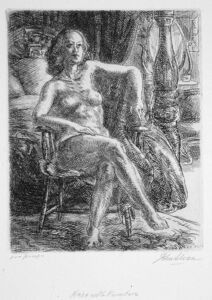 John Sloan, 'Nude with Furniture', 1931