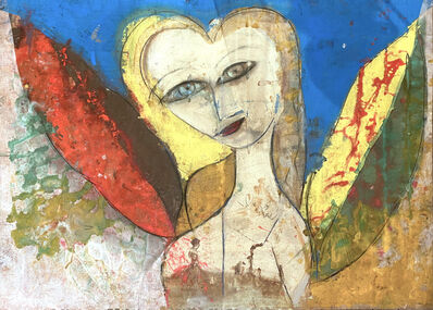 Jamali, 'Untitled - Woman with Red, Yellow and Green Wings', 2011