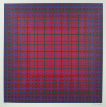 Julian Stanczak, 'Compounded Red', 1981