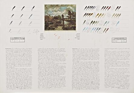 """Osvaldo Romberg, 'Analysis of """"Flatford Mill"""" (John Constable)', 1980"""