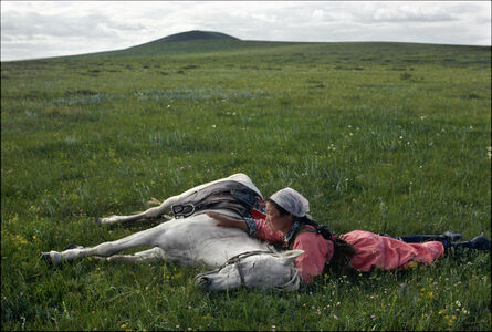 Eve Arnold, 'CHINA. Inner Mongolia. Horse training for the militia.', 1979