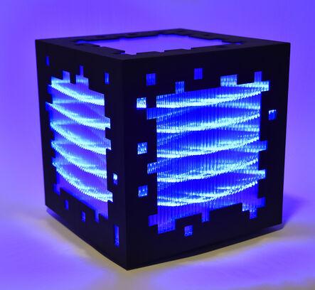 Miguel Chevalier, 'mini voxels light blue', 2015