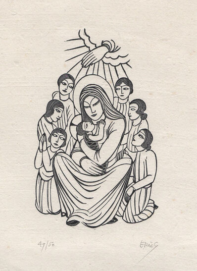 Eric Gill, 'Madonna and Child, with Children', 1925