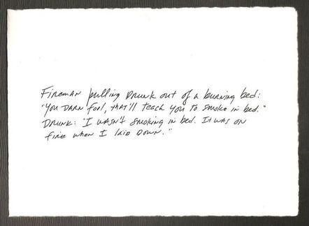 Richard Prince, 'The Greeting Card Jokes #3: Canada Dry', 2011