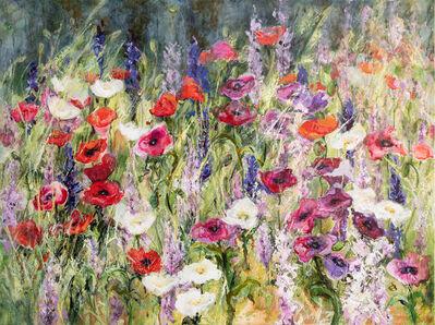 Dianne Ogg, 'Country Garden, Larkspurs & Poppies', 2021