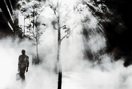 Trent Parke, ' Trent Parke AUSTRALIA. Sydney. An office worker on his way to work walks through Martin Place. ', 2001