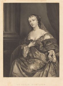 Charles Rolls after Sir Peter Lely, 'La Belle Hamilton'