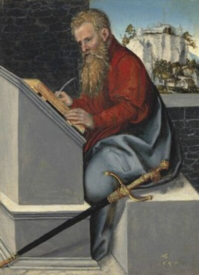 Lucas Cranach the Younger, 'Saint Paul in his study', 1547