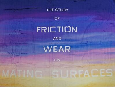 Ed Ruscha, 'The Study of Friction and Wear on Mating Surfaces Beach Towe'