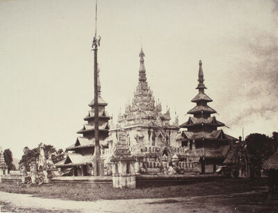 Linnaeus Tripe, 'A Small Pogoda, Prome, Burma.', 1855