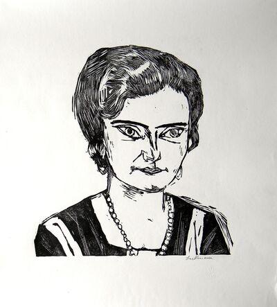 Max Beckmann, 'Bildnis Frau H.M. Naila', 1923