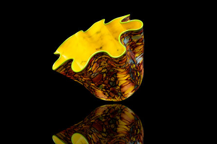 Dale Chihuly, 'Dale Chihuly Large Signed Carnival Macchia with Red Lip, Signed Hand Blown Glass Contemporary Art', ca. 2000