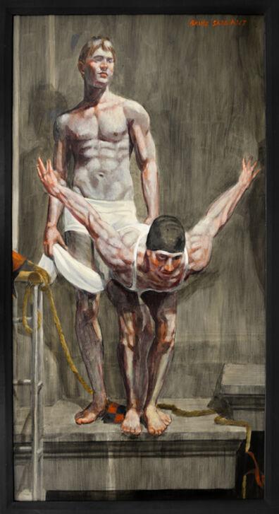 Mark Beard, '[Bruce Sargeant (1898-1938)] Demonstrating a Dive', n.d.