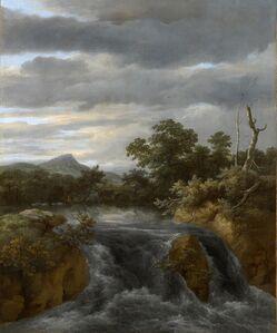 Jacob van Ruisdael, 'Landscape with Waterfall', ca. 1670