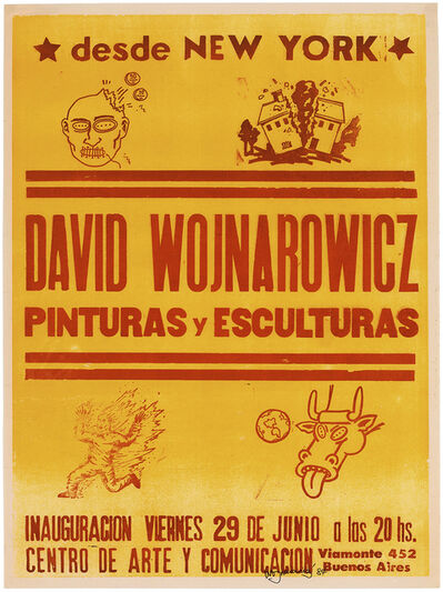 David Wojnarowicz, 'desde NEW YORK, David Wojnarowicz, Pinturas y Esculturas, CENTRO DE ARTE Y COMUNICACIÓN', 1984