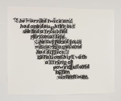 Kara Walker, 'Nina Simone', 2010