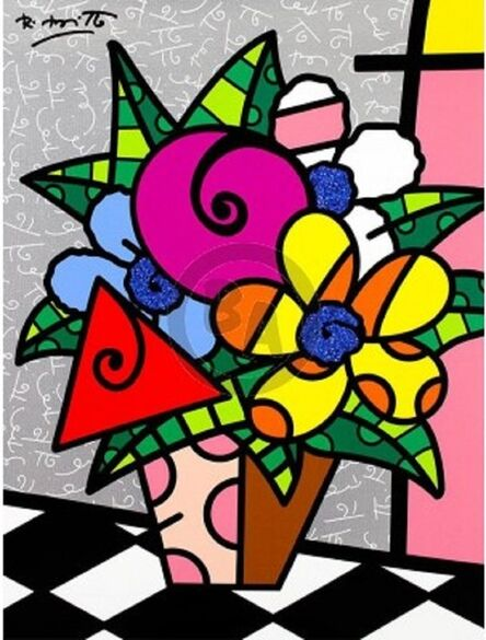 Romero Britto, 'Flowers For You', 2017