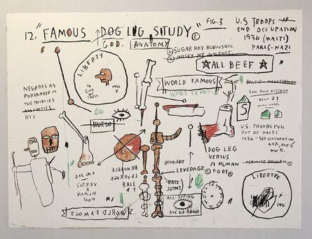 Jean-Michel Basquiat, 'Dog Leg Study', 1982-2019
