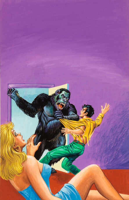 'Untitled (Gorilla attacking man as horrified woman watches)', c. 1960-74