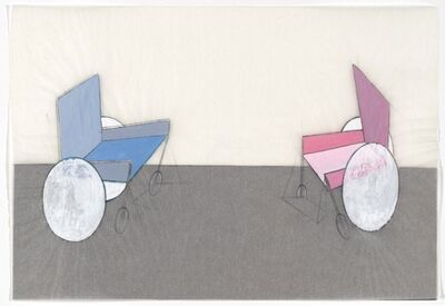 Renate Bertlmann, 'Rollstuhl - Kampf 1 [Wheelchair - Fight 1]', 1975