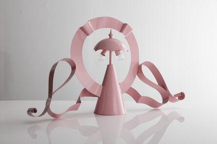 "Lapo Binazzi, '""MGM Lamp"" in pink painted metal', 1980-1989"