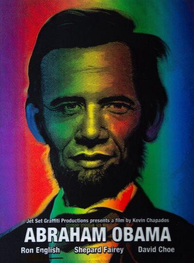 Ron English, 'Abraham Obama (Silver Lettering)', 2009