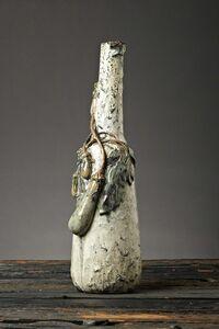 Henri-Leon-Charles Robalbhen, 'Eggplant Bottle Form Vase', C.1900