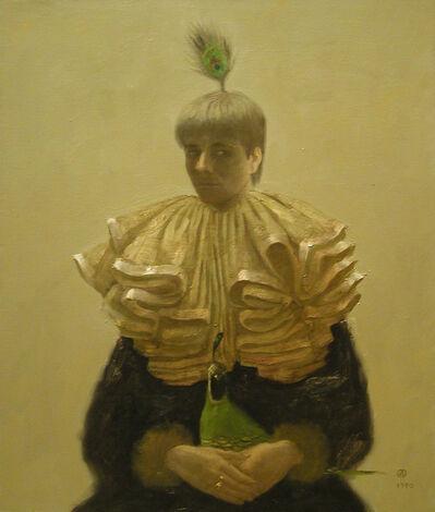 Olga Antonova, 'Self Portrait with Peacock'