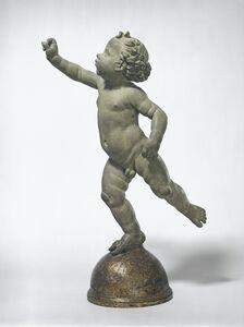 Andrea del Verrocchio, 'Putto Poised on a Globe', probably 1480