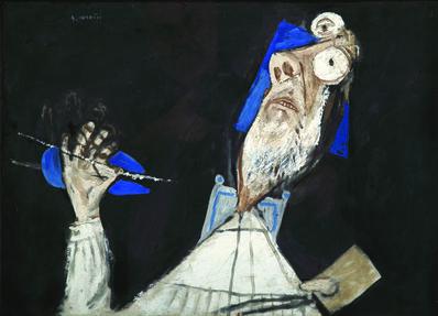 LJUBO IVANČIĆ, 'Self-portrait with Brush and Palette', 1992