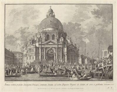 Giovanni Battista Brustolon after Canaletto, 'Annual Visit of the Doge to Santa Maria della Salute', 1763/1766
