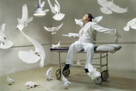 Martin Schoeller, 'Quentin Tarantino with Doves', 2004