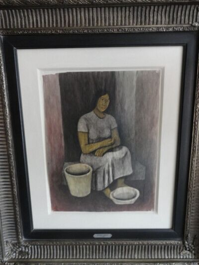 "Rufino Tamayo, '""Vendedora de ceramica""', ca. 1950"