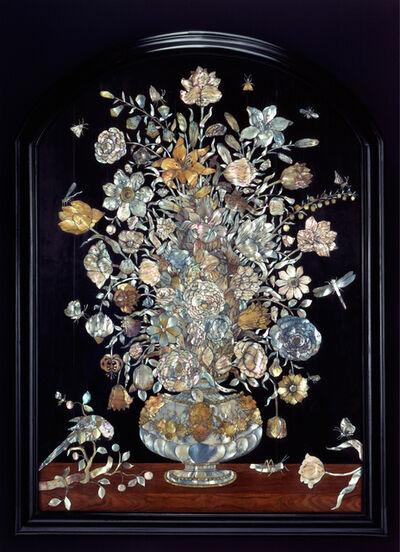 Dirck van Rijswijck, 'Panel with floral still life', 1654