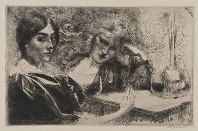 Albert Besnard, 'Morphinomanes ou Le Plumet [Morphine Addicts or The Plume]', 1887