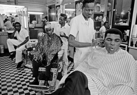 Thomas Hoepker, 'Muhammad Ali visits a barber shop', 1966