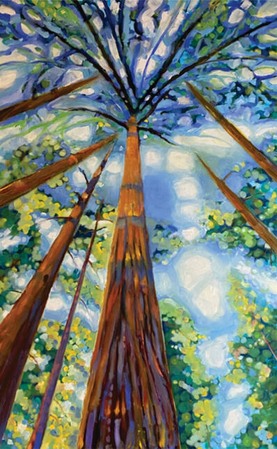 Barbara Able, 'Avenue of the Giants - Landscape, vivid colors, perspective', 2020