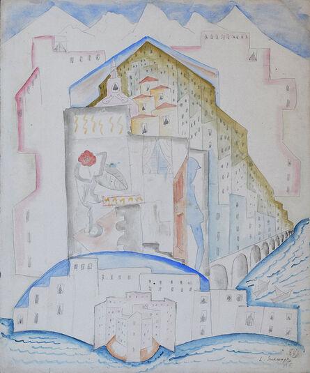 Leopold Survage, 'VILLEFRANCHE-SUR-MER', 1915