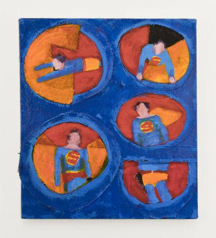 Katherine Bradford, 'Superman Five Views', 2015
