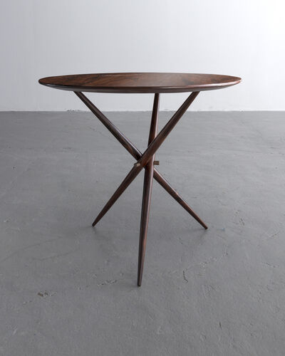 Sergio Rodrigues, 'Janete side table in wood with polished brass detailing. Designed by Sergio Rodrigues, Brazil, 1956.', 1956