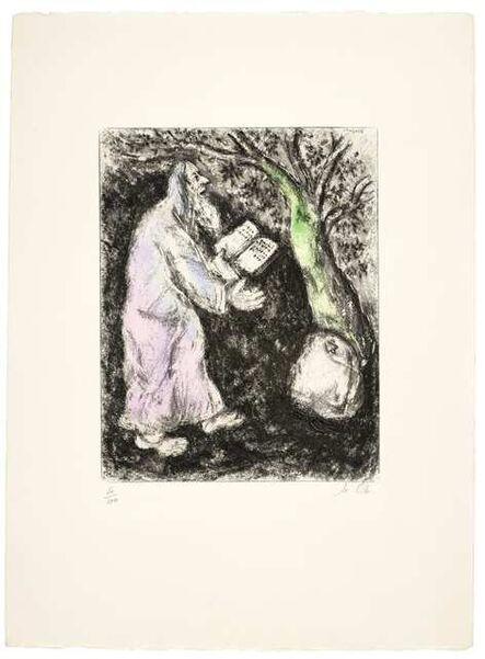 Marc Chagall, 'Josué et la pierre de Sichem (Joshua and the stone of Shechem), from La Bible (Vollard 248; Cramer bk. 30)'